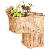 Willow Woven Basket Caja Seagrass Storage Hamper Portavasos para el hogar Organizador