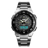 SKMEI 1370 Stainless Steel Business Style Dual Digital Watch