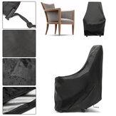 IPRee®89x89x89cmPoliéster190TImpermeableCubierta de silla de mimbre única al aire libre Protección de muebles