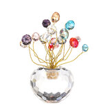 10cm 3D Crystal Apple Model Glass Craft Table Top Home Adornos Decoración