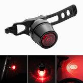 Luz trasera de bicicleta ROCKBROS, luz trasera de bicicleta recargable por USB, luz trasera de advertencia de freno de seguridad múltiple, accesorios de ciclismo