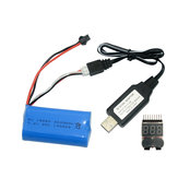 Fayee FY004A Upgraded 7.4v 2000mAh 20C 2S Lipo Battery +USB Cable +Low Electric Alarm