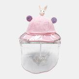 Çocuklar / Küçük Çocuklar (1-5ys) çocuk Sevimli Karikatür Çıkarılabilir Yüz Ekran Balıkçı Şapka Rüzgar Geçirmez Toz Kapağı