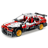 591 Pcs 1:17 KY1020 R32 Ares Mechanical Engineering Car Small Particle DIY Assembled Building Blocks Pull Back Racing Car Model Toy for Birthday Gift