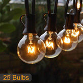 25FT Patio String Light Natale G40 Globo Festone Lampadina Fairy String Light Outdoor Party Garden Garland Wedding Lights Decorative