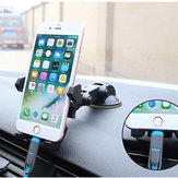 Bakeey™ Universal 360 Degree Rotation Suction Cup Car Phone Holder Cradle for Phone Under 6 inchs
