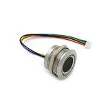 وحدة بصمات الأصابع بالسعة R503 المستشعر ماسحة دائرية دائرية بلونين حلقة مؤشر LED مراقبة DC3.3V MX1.0-6pin
