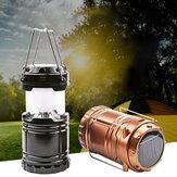 IPRee® G85 Lanterna solar ao ar livre 6 LED Luz de acampamento telescópica recarregável USB Lanterna de banco de energia de emergência super brilhante Lanterna Caminhada Viagem