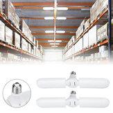2PCS E27 56 * 2 LED Garagem Lâmpada 2 Lâminas Dobrável Armazém de Mineração Lâmpada Ventilador de Teto AC165-265V
