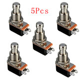 5Pcs Efecto de la guitarra eléctrica Momentary Push Button Stomp Pedal Switch