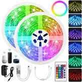 10M RGB LED Light Strip Non-waterproof 5050SMD 24 Key Remote Control Tape Lamp Works with Alexa Google Home DC12V