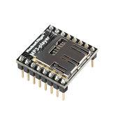 WTV020 Audio-Modul MP3-Player mit MicroSD-Kartenleser Für AVR ARM PIC-MP3 RobotDyn für Arduino - Produkte, die mit offiziellen Arduino-Karten funktionieren