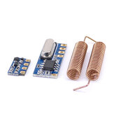 3pcs 433MHz Wireless Transceiver Kit Mini RF Transmitter Receiver Module + 6PCS Spring Antennas OPEN-SMART for Arduino - products that work with official for Arduino boards