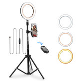8 inch LED Ring Light with Tripod Stand&Phone Holder Moreslan Dimmable Selfie Ring Light LED Camera Ringlight for YouTube with Phone Xs Max XR Android