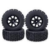 4pcs ZD 1/10 Short Truck RC Car Wheel Tire for Thunder SC-10 Vehicle Models Parts