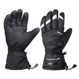 M/XL 5 Level Electric Heated Touch Screen Gloves Motorcycle Outdoor Skiing Waterproof 10Hrs Warm
