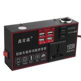Inverter per auto con potenza di picco da 1500 W Convertitore sinusoidale modificato da 12/24 V CC a 220 V CA 4 USB
