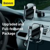 Baseus 10W Car Wireless-Ladegerät mit intelligentem Infrarotsensor Schnellladung Autotelefonhalter Lock Car Air Vent + Tank Sunction Base Charging Dock Station Ständer für Mobiltelefone zwischen 4,5 und 6,5 Zoll