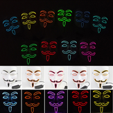 EL Wire 10 Colors Optional Glowing Mask for VENDETTA Halloween Cosplay Party Mask