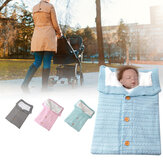 Baby Stroller Sleeping Bag Warm Knitting Soft Sleeping Blanket Outdoor Windproof Cold-Proof