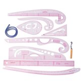 9 Style French Curve Sewing Tool Sew Drawing Template Ruler Kit for Dressmaking Tailoring Designing