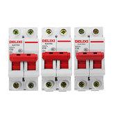 Delixi® DZ47S-2P / c AC 400V 10/20 / 32A Disjuntor em miniatura do interruptor de ar de plástico 2P