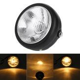 12V H4 35W Faro per motocicletta HID Hi / Lo Light Beam lampada Lampadina alogena ambra