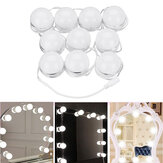 10pcs Vanity LED Mirror Dimmable Light Bulbs kit Cosmetic Makeup Hollywood Style