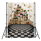 5x7FT Book Scenery Photography Backdrop Studio Prop Background
