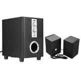 SADA D-200T Home Laptop Audio Multimídia Mini Alto-falante USB Áudio AUX 2.1 Subwoofer bluetooth5.0 Com fio 3,5 mm Madeira Preto