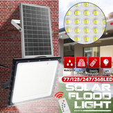 77/128/247 / 368LED Holofote solar SMD2835 Lâmpada de parede de rua de jardim externo + Controle Remoto