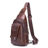 Bullcaptain Genuine Leather Sling Bag