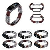 Bakeey metalen omhulsel retro vier ringen reliëf vlinder gesp vervangende band slimme horlogeband voor xiaomi Mi band 5 niet-origineel