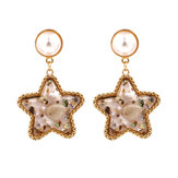 Bohemian Shell Star Earring
