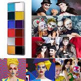 12 colori Face Body Paint Olio Kit per pittura del viso Pittura professionale Trucco fantasia per feste di Halloween per adulti e bambini