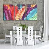 3 Kaskade Riesige moderne abstrakte Segeltuch-Anstrich-dekorative Wand-Abbildung Hauptdekoration Unframed