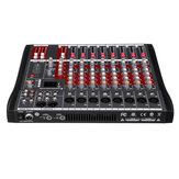 8 canaux bluetooth Mic Live Mixing Studio Transmission Audio Console de mixage sonore Console 48V Phantom