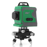 12 Line 635nm 3D Green Light Laser Level Auto Self Leveling 360°Rotary Measure Cross