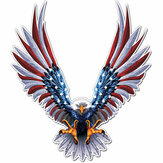 6x6.75 Inch Vinyl Car EUA Eagle Wings Bandeira dos Estados Unidos Bumper Window Adesivos Decal