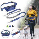 Multifunction Pet Dog Elastic Running Traction Rope Dog Leash Chain Harness Hand