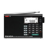 PANDA 6208 FM AM MW SW Full Band Radio DSP Digital Tuning Alarm Clock Temperature Display MP3 Music Play