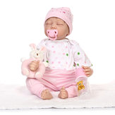 NPK 21 Inch 55cm Reborn Baby Soft Silicone Doll Handmade Lifelike Baby Girl Dolls Play House Toys Birthday Gift