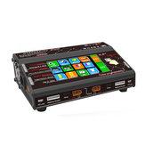 HTRC HT206 DUO AC / DC 2X200W 2X20A Écran tactile 4.3 pouces LCD Dual Batterie Balance Charger Discharger