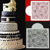 Flower Fondant Side Cake Mould Grens Stencil Decorating Sugarcraft Baking Tools