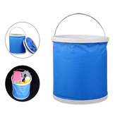 11L Oxford Portable Bucket Foldable Multifunctional Outdoor Hiking Camping Fishing Car Washing Folding Bucket Basin