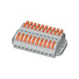 600V 32A huzalcsatlakozó 10 in 10 kimeneti huzalosztó sorkapocs kompakt vezetékkábel csatlakozó dugaszolható vezeték