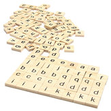 100pcs School Wooden Scrabble Tiles Letters Wedding Pendants Craft Complete Set Decor Supplies