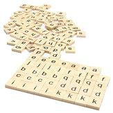 100 pcs De Madeira Escola Scrabble Tiles Cartas Pingentes De Casamento Artesanato Conjunto Completo Decoração Suprimentos