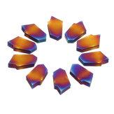Drillpro 10 pcs ZQMX3N11-1E Azul Nano Carboneto de Inserção para Ferramenta Cortador De Moinho CNC