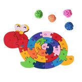 26 szt. Multicolor litera dla dzieci edukacyjne klocki ślimaka zabawki układanki dla dzieci prezent